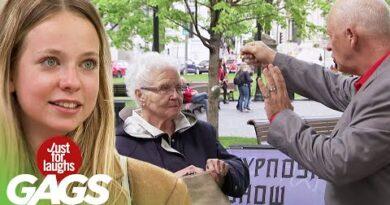 Hypnotist Shamelessly Steals From Old Lady