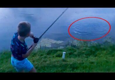 Boy Gets Shocking Surprise Reeling in Fish | Top Viral Videos Of The Week
