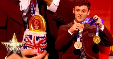 Tom Daley Shows Off His Adorable Pouch For His Gold Medals | The Graham Norton Show